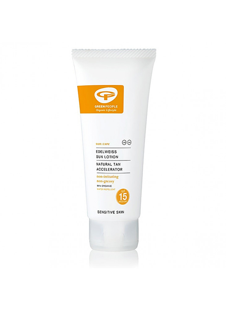 Edelweiss Sun Lotion With Tan Accelerator SPF15 200ML