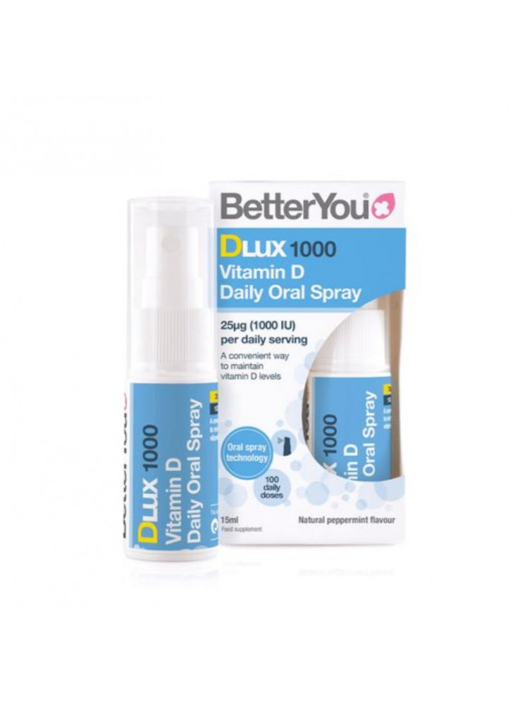 BetterYou Vitamin D Oral Spray, Dlux 1000