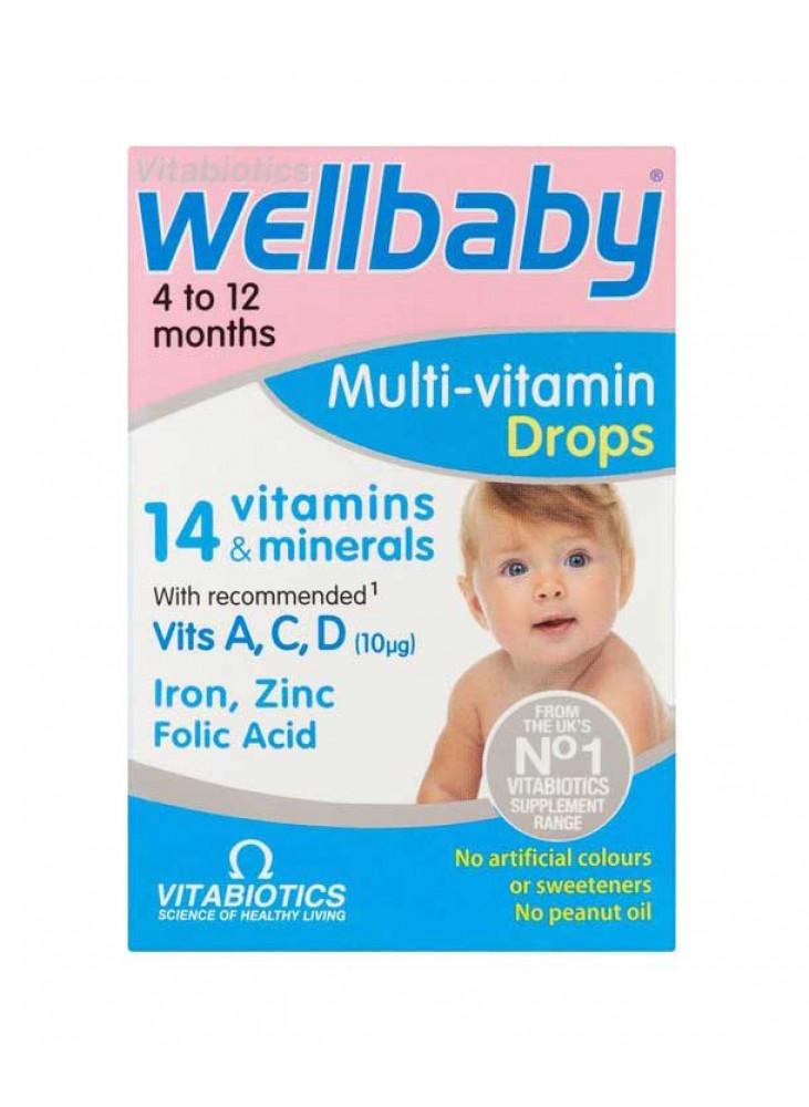 Wellbaby Multi-vitamin Drops, 30ml