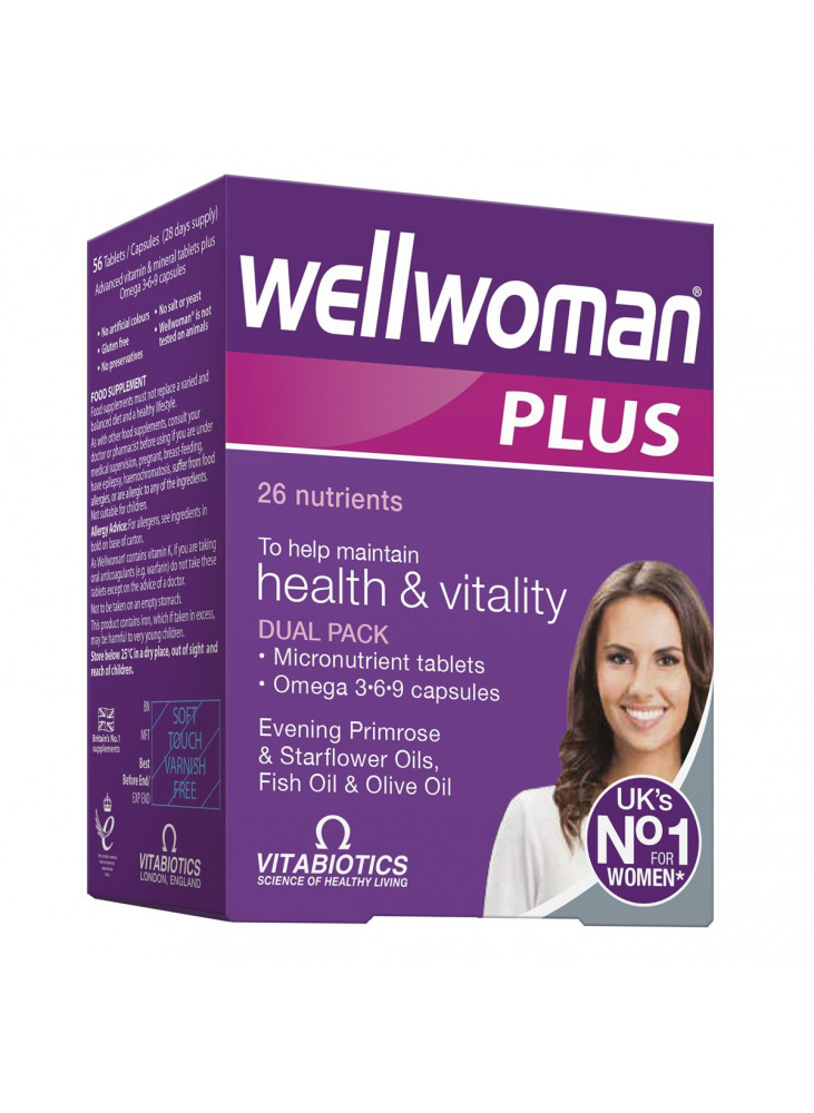Wellwoman Plus, N56 (28 capsules ir 28 tablets)